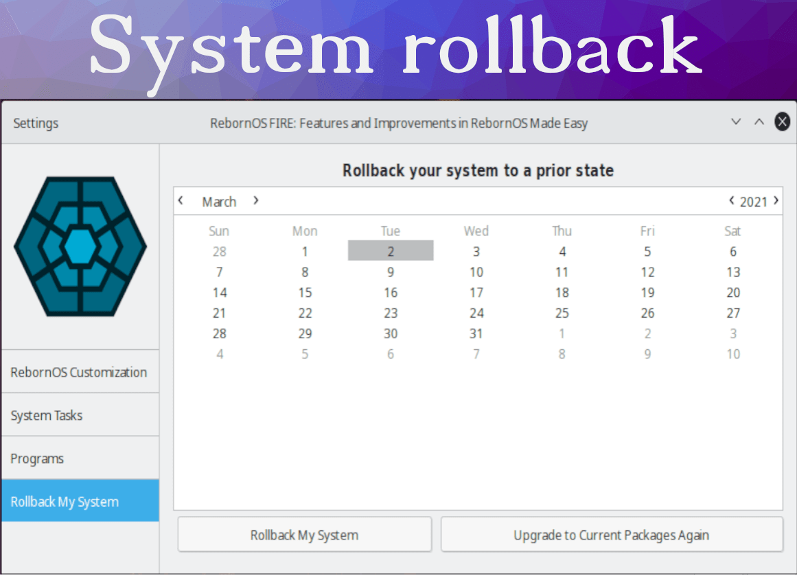 System Roll back